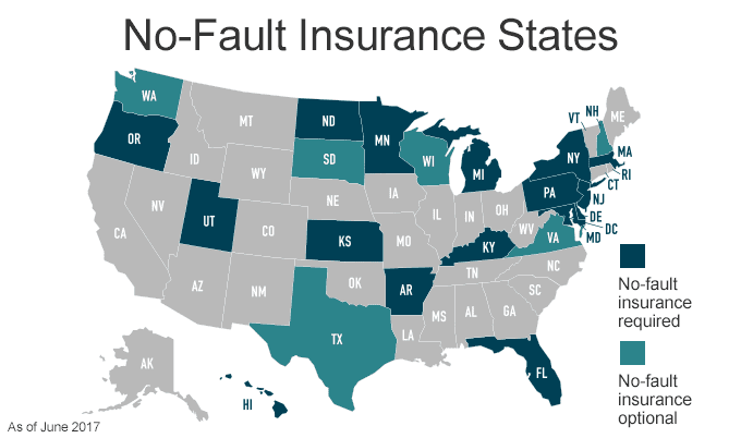 No Fault Insurance States